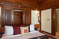 Zimmer des Mandarin Oriental Hotel in Sanya auf der Insel Hainan, China<br /> Room of Mandarin Oriental Hotel in Sanya, Hainan island, China