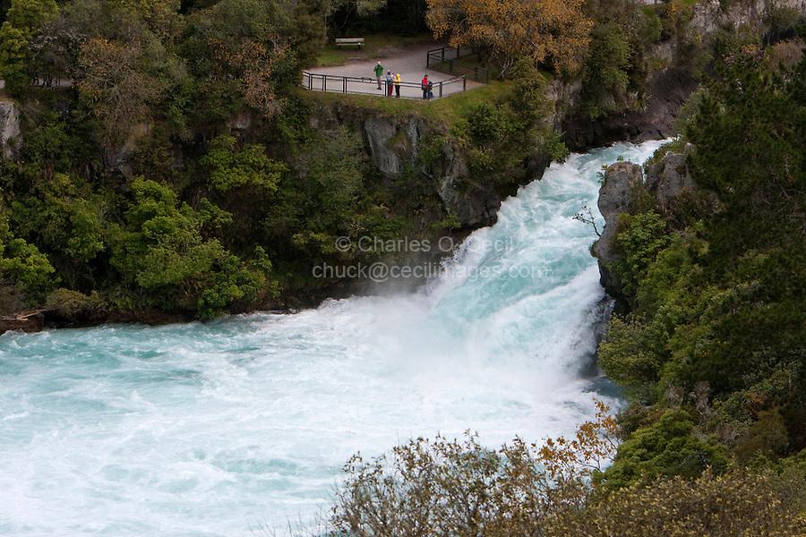 Huka Falls, Waikato River, Lake Taupo Region, north island, New Zealand.