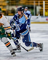 30 November 2018: University of Maine Black Bear Forward Tereza Vanišová, a Junior from Strakonice, Czech Republic, in first period action against the University of Vermont Catamounts at Gutterson Fieldhouse in Burlington, Vermont. The Lady Bears defeated the Lady Cats 2-1 in the first game of their 2-game Hockey East series. Mandatory Credit: Ed Wolfstein Photo *** RAW (NEF) Image File Available ***