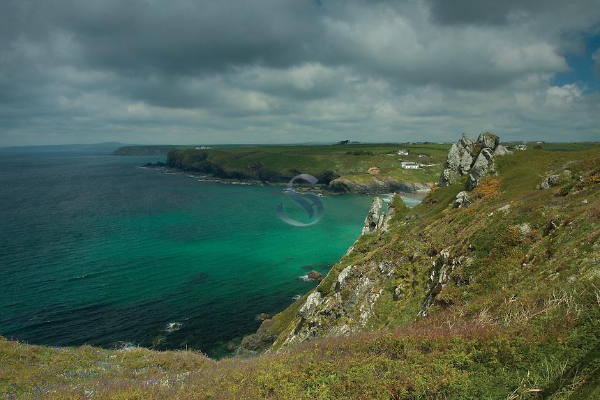 Polurrian Cove near Mullion, on the Lizard Peninsula, Cornwall