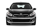 Car photography straight front view of a 2016 KIA Ceed Sense 5 Door Hatchback Front View