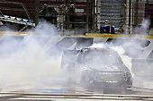 NASCAR Camping World Truck Series<br /> North Carolina Education Lottery 200<br /> Charlotte Motor Speedway, Concord, NC USA<br /> Friday 19 May 2017<br /> Kyle Busch, Cessna Toyota Tundra celebrates his win with a burnout<br /> World Copyright: Nigel Kinrade<br /> LAT Images<br /> ref: Digital Image 17CLT1nk05253