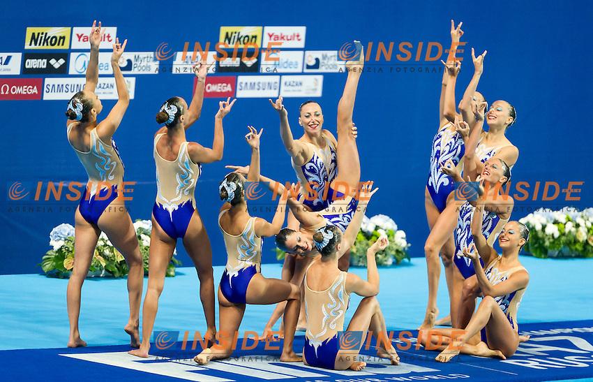 ITA - Italy<br /> BOZZO Elisa CALLEGARI Beatrice<br /> CATTANEO Camilla CERRUTI Linda<br /> DEIDDA Francesca FERRO Costanza<br /> FLAMINI Manila MUSSO Viola<br /> PERRUPATO Mariangela SGARZI Sara<br /> Day 9 01/08/2015<br /> XVI FINA World Championships Aquatics<br /> Synchro<br /> Kazan Tatarstan RUS July 24 - Aug. 9 2015 <br /> Photo Pasquale Mesiano/Deepbluemedia/Insidefoto