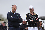 Celebrity Golf @ Golf Live.Steve Redgrave and Jodie Kidd..Celtic Manor Resort.10.05.13.©Steve Pope