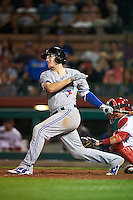 Mesa Solar Sox Danny Jansen (5), of the Toronto Blue Jays organization, during a game against the Scottsdale Scorpions on October 17, 2016 at Scottsdale Stadium in Scottsdale, Arizona.  Mesa defeated Scottsdale 12-2.  (Mike Janes/Four Seam Images)