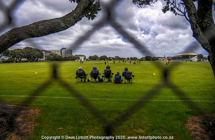 Fans watch the Joy Lamason One Day Wellington premier women's division one cricket match between Petone Riverside and Wellington Collegians at Petone Rec in Petone, New Zealand on Saturday, 21 November 2020. Photo: Dave Lintott / lintottphoto.co.nz