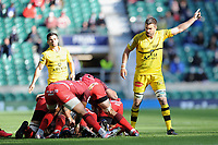Romain Sazy (c) of La Rochelle during the Heineken Champions Cup Final match between La Rochelle and Toulouse at Twickenham Stadium on Saturday 22 May 2021 (Photo by Rob Munro/Stewart Communications)