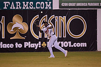 Visalia Rawhide left fielder Yoel Yanqui (29) during a California League game against the San Jose Giants on April 12, 2019 at San Jose Municipal Stadium in San Jose, California. Visalia defeated San Jose 6-2. (Zachary Lucy/Four Seam Images)