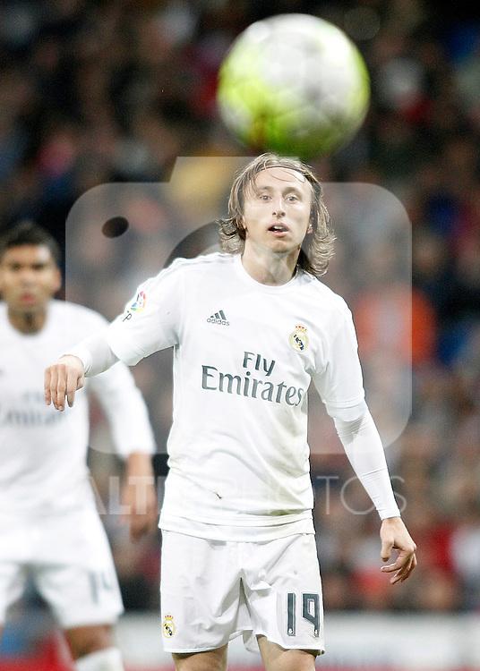 Real Madrid's Luka Modric during La Liga match. April 20,2016. (ALTERPHOTOS/Acero)