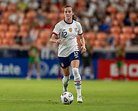 HOUSTON, TX - JUNE 10: Tierna Davidson #12 of the USWNT dribbles during a game between Portugal and USWNT at BBVA Stadium on June 10, 2021 in Houston, Texas.