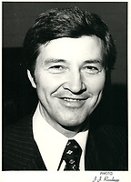 Raymond Garneau, candidat, , mars 1978<br />  durant la<br /> Course a la chefferie du PLQ<br /> <br /> PHOTO : JJ Raudsepp<br />  - Agence Quebec presse
