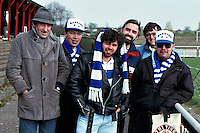 Barking fans are seen during an Isthmian League match at Bromley FC - 07/04/90 - MANDATORY CREDIT: Gavin Ellis/TGSPHOTO - Self billing applies where appropriate - Tel: 0845 094 6026