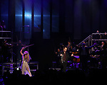 """Mairead Nesbitt and Pat Monahan during the Broadway Opening Night Performance Curtain Call of  """"Rocktopia"""" at The Broadway Theatre on March 27, 2018 in New York City."""