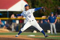 Burlington Royals pitcher Igol Feliz (30) in action against the Bluefield Blue Jays at Burlington Athletic Park on June 29, 2015 in Burlington, North Carolina.  The Royals defeated the Blue Jays 4-1. (Brian Westerholt/Four Seam Images)