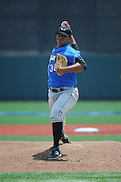 Hudson Valley Renegades pitcher Enderson Franco (34) during game 1 of a double header against the Brooklyn Cyclones at MCU Park on July 8, 2014 in Brooklyn, NY.  Brooklyn defeated Hudson Valley 3-0.  (Tomasso DeRosa/Four Seam Images)