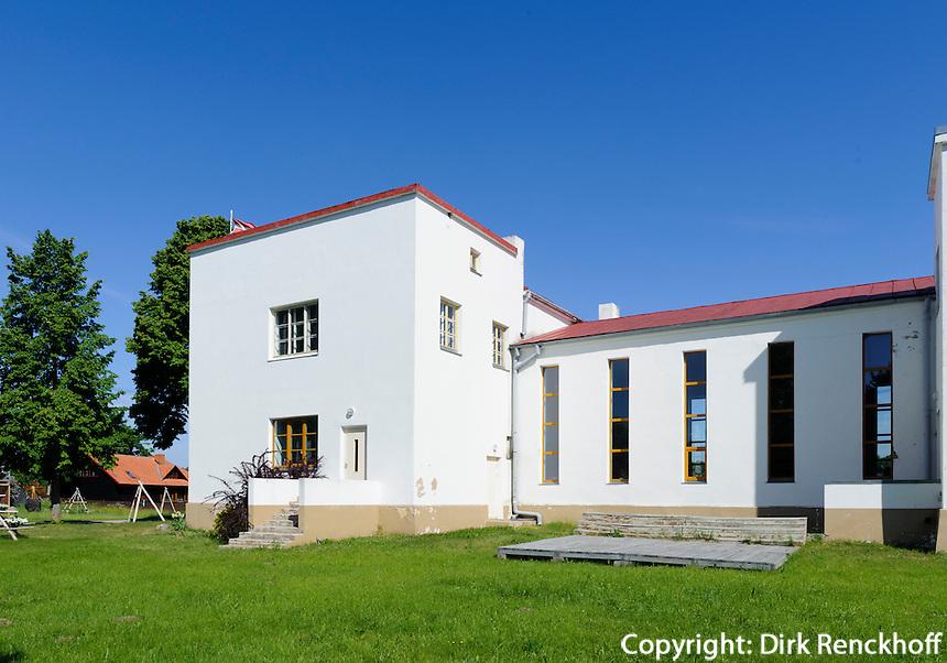 Volkshaus der Liven in Mazirbe gebaut 1939 von Erki Juhani Huttunen, Lettland, Europa