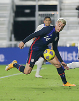 FORT LAUDERDALE, FL - DECEMBER 09: Djordje Mihailovic #14 of the United States moves to the ball during a game between El Salvador and USMNT at Inter Miami CF Stadium on December 09, 2020 in Fort Lauderdale, Florida.