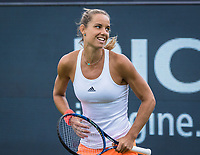 Den Bosch, Netherlands, 12 June, 2017, Tennis, Ricoh Open, Arantxa Rus (NED) celebrates matchpoint<br /> Photo: Henk Koster/tennisimages.com