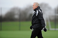Pictured: Alan Curtis. Wednesday 13 December 2018<br /> Re: Coaching staff v Members of the press game at the Fairwood Training Ground, Wales, UK.