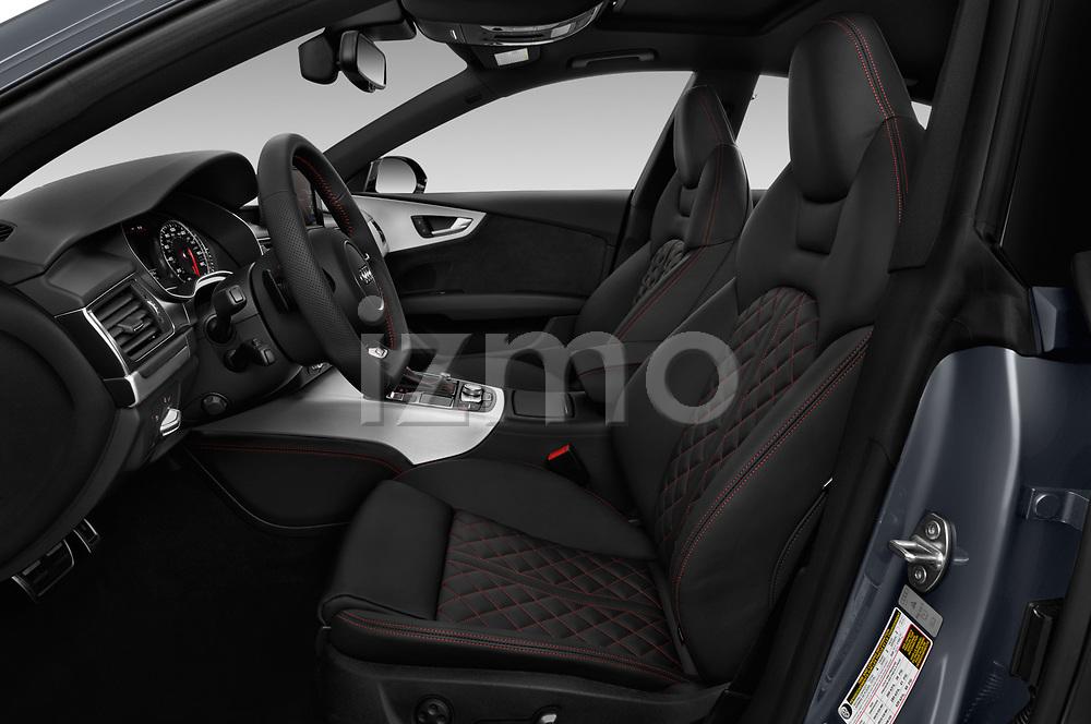 Front seat view of a 2018 Audi A7 Premium Plus 5 Door Hatchback front seat car photos