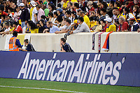 American Airlines. The men's national team of the United States (USA) was defeated by Ecuador (ECU) 1-0 during an international friendly at Red Bull Arena in Harrison, NJ, on October 11, 2011.