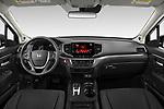 Stock photo of straight dashboard view of 2021 Honda Ridgeline Sport 4 Door Pick-up Dashboard