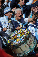 Argentina fans drum up support for their team in advance of their match with South Korea. Argentina defeated South Korea, 4-1, in both teams' second match of play in Group B of the 2010 FIFA World Cup. The match was played at Soccer City in Johannesburg, South Africa June 17th.