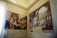 - Palazzo Marino, costruito fra il 1557 ed il 1563, dal 1861 storica sede del Comune di Milano ; sala della Resurrezione<br /> <br /> - Palazzo Marino, built between 1557 and 1563, from 1861 historic home of the Milan Municipality ; room of Resurrection