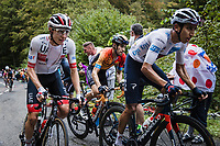 Tadej Pogacar (SVK/UAE-Emirates), Egan Bernal (COL/Ineos Grenadiers) and  Mikel Landa (ESP/Bahrain-McLaren) up the Col de Marie Blanque<br /> <br /> Stage 9 from Pau to Laruns 153km<br /> 107th Tour de France 2020 (2.UWT)<br /> (the 'postponed edition' held in september)<br /> ©kramon