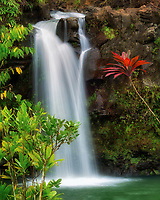 Waterfalls at Pua'A'Kaa state wayside. Maui, Hawaii.