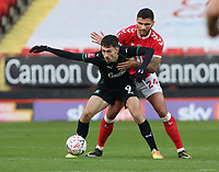 Ryan Inniss of Charlton Athletic holds onto Ryan Hardie of Plymouth Argyle during Charlton Athletic vs Plymouth Argyle, Emirates FA Cup Football at The Valley on 7th November 2020