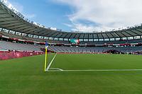TOKYO, JAPAN - JULY 21: Tokyo Stadium during a game between Sweden and USWNT at Tokyo Stadium on July 21, 2021 in Tokyo, Japan.