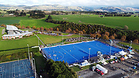 A aerial view of the Sentinel Homes Trans Tasman Series hockey match between the New Zealand Black Sticks Men and the Australian Kookaburras at Massey University Hockey Turf in Palmerston North, New Zealand on Sunday, 30 May 2021. Photo: Dave Lintott / lintottphoto.co.nz