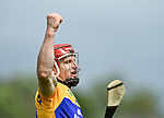 John Conlon of Clare celebrates a late point during their Munster championship game in Ennis. Photograph by John Kelly.
