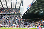 The Leazes Stand empties rapidly as full time approaches. Newcastle v West Ham, August 15th 2021. The first game of the season, and the first time fans were allowed into St James Park since the Coronavirus pandemic. 50,673 people watched West Ham come from behind twice to secure a 2-4 win.