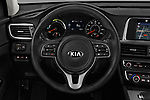 Car pictures of steering wheel view of a 2019 KIA Optima Plug-In Hybrid EX 4 Door Sedan