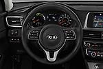 Car pictures of steering wheel view of a 2019 KIA Optima Plug-In Hybrid EX 4 Door Sedan