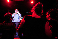 """Comedian Nick Turner performs at the """"Too Cool for School"""" show at Coco 66 in Brooklyn, NY, on July 3, 2009."""