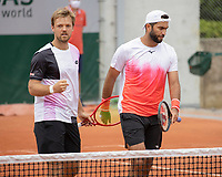5th June 2021; Roland Garros, Paris France; French Open tennis championships day 7;  Kevin Krawietz GER and Horia Tecau ROU