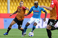 Riccardo Improta of Benevento Calcio and Victor Osimhen of SSC Napoli \om\<br /> during the Serie A football match between Benevento Calcio and SSC Napoli at stadio Ciro Vigorito in Benevento (Italy), October 25th, 2020. <br /> Photo Cesare Purini / Insidefoto