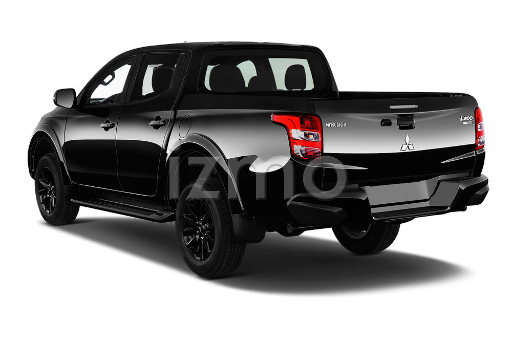 Car pictures of rear three quarter view of a 2019 Mitsubishi L200 Black Collection Plus 4 Door Pick Up angular rear