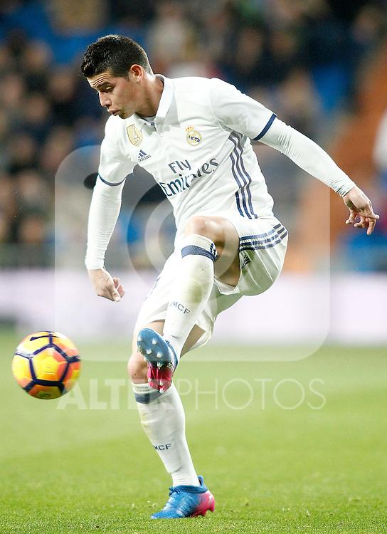 Real Madrid's James Rodriguez during La Liga match. March 1,2017. (ALTERPHOTOS/Acero)