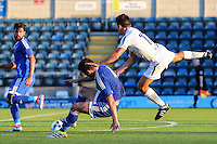 Luke O'Nien of Wycombe Wanderers (left) and John Egan of Brentford (2nd right) battle for the ball during the Friendly match between Wycombe Wanderers and Brentford at Adams Park, High Wycombe, England on 19 July 2016. Photo by David Horn PRiME Media Images.