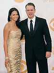 Matt Damon, Luciana Barroso attends 65th Annual Primetime Emmy Awards - Arrivals held at The Nokia Theatre L.A. Live in Los Angeles, California on September 22,2012                                                                               © 2013 DVS / Hollywood Press Agency