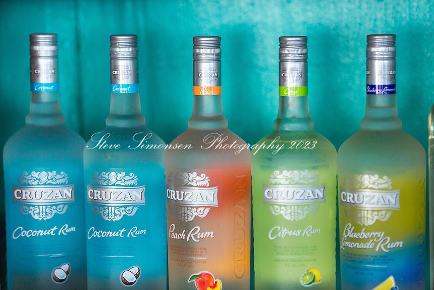 Cruzan Rum Bottles<br /> St. Croix<br /> US Virgin Islands
