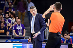 Anadolu Efes's coach Velimir Perasovic receive technical fault during Turkish Airlines Euroleague match between Real Madrid and Anadolu Efes at Wizink Center in Madrid, April 07, 2017. Spain.<br /> (ALTERPHOTOS/BorjaB.Hojas)