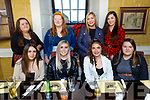 Enjoying the evening in the Brogue Inn on Thursday<br /> Seated l to r: Casey O'Donnell, Emma O'Connor, Shauna Ahern and Shannon Carey.<br /> Back l to r: Catherine Carey, Sarah Newberry, Aisling Hussey and Rachel Evans.