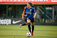 TACOMA, WA - JULY 31: Lauren Barnes #3 of the OL Reign looks on during a game between Racing Louisville FC and OL Reign at Cheney Stadium on July 31, 2021 in Tacoma, Washington.