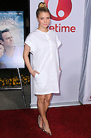 """HOLLYWOOD, LOS ANGELES, CA, USA - MAY 01: Sarah Jones at the Los Angeles Premiere Of Lifetime Television's """"Return To Zero"""" held at Paramount Studios on May 1, 2014 in Hollywood, Los Angeles, California, United States. (Photo by Xavier Collin/Celebrity Monitor)"""