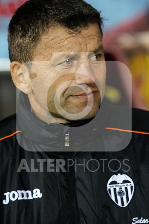 Valencia's coach Miroslav Djukic during La Liga match.December 15,2013. (ALTERPHOTOS/Acero)